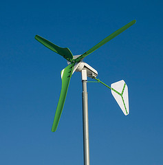 An example of a small wind turbine