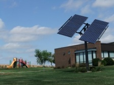 A small solar installation near Kolona, Iowa.