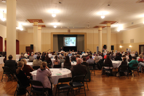 Attendees listen to a presentation during the Council's 2012 annual conference, Finding Iowa's Way:  Economic Solutions for a Healthier Iowa Environment