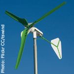 A small wind turbine. Photo courtesy Flickr/Creative Commons/User: tswind