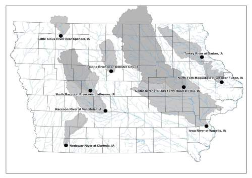 The Iowa Department of Natural Resources estimated the commercial value of nitrates lost from these watersheds at nearly $93 million--and climbing--since April 1. (Source:  Iowa DNR)